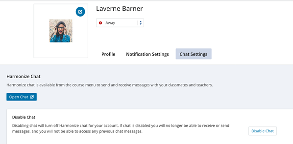 Profile Overlay Chat Settings