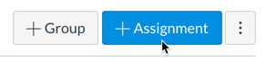 Assignments Page Add Assignment Button