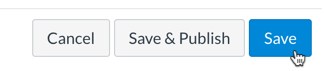 New Assignment Save Button