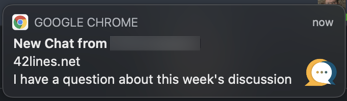 Browser Notification for Harmonize Chat